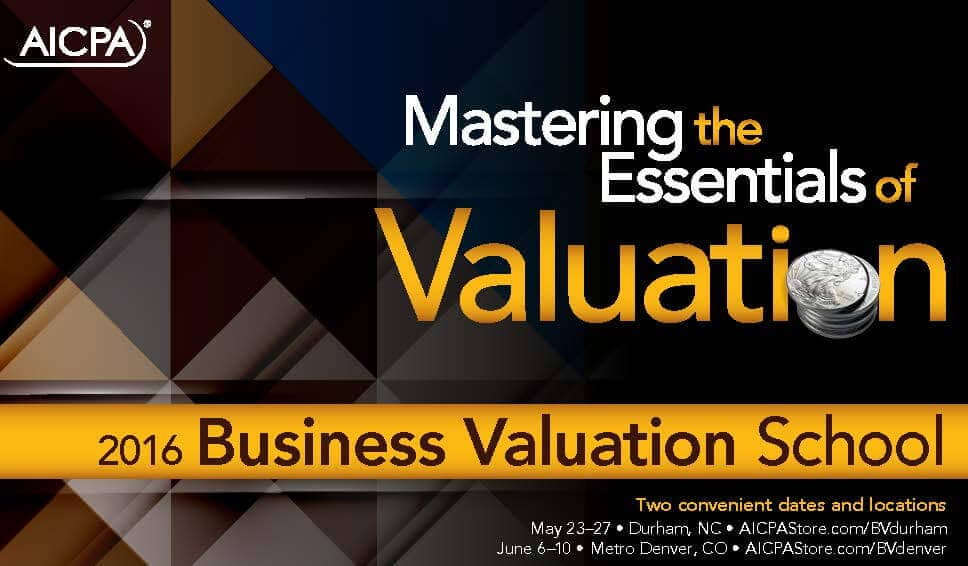 Harold Martin will share his knowledge at AICPA's 2016 Business Valuation School
