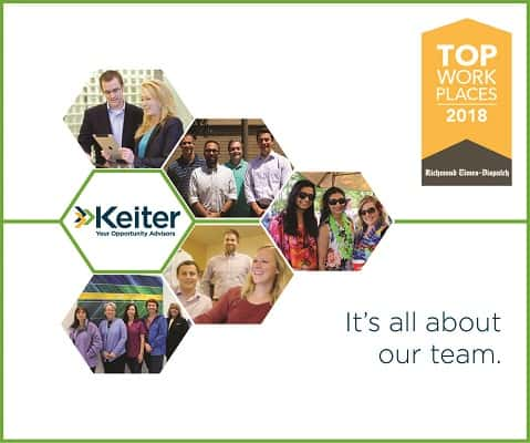 Keiter Named Among 2018 Top Workplaces