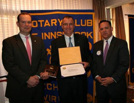 Mike Gracik Receives Innsbrook Rotary Awards