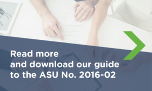 Read more and download our guide to the ASU No. 2016-02
